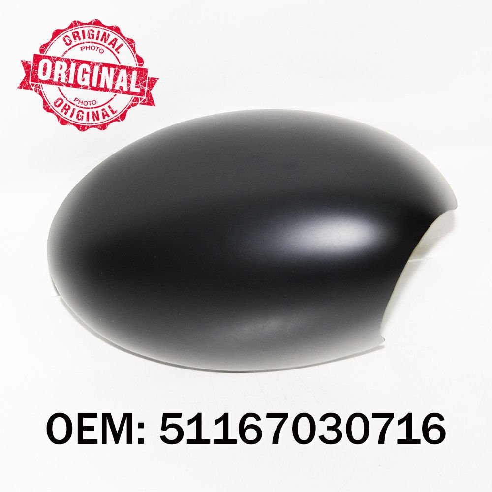 Right Side Wing Mirror Cover Cap Black Casing OEM 51167030716
