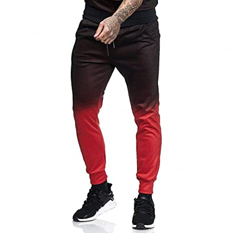 WNGO_Men Pants Chándal Deportivo para Hombre, cálido, Desgastado ...