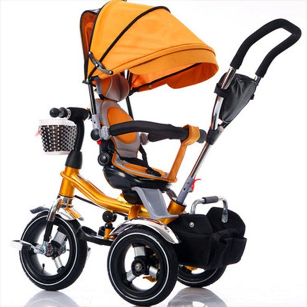 子供の屋内屋外小型三輪車自転車の男の子の自転車の自転車6ヶ月-5歳の赤ちゃんスリーホイールトロリー、ダンピング/折りたたみ/回転座席 (色 : 1) B07DVMVC3N 1 1