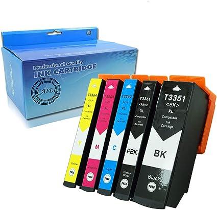 caidi 5 x Compatible para Epson 33 X L Cartuchos de tinta ...