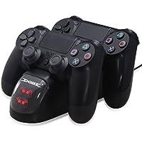 Estación de carga para DualShock 4 Controller - ElecGear Rápida Dual Charger Charging Base Cargador con LED para Mando de PlayStation /PS4 /PS4 Slim /PS4 Pro Gamepad