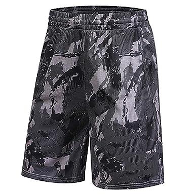 BAACD Pantalones Cortos de Baloncesto para Hombres con Bolsillos ...
