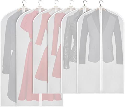"""10 Polythene Garment Covers Dry Cleaner Bags 24/"""" x 38/"""""""