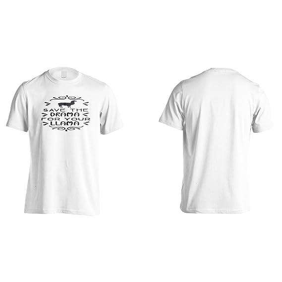 Rette Das Drama Für Dein Lama Herren T-Shirt n821m: Amazon.de: Bekleidung