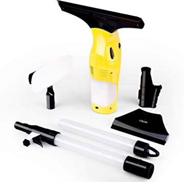 INTEY Aspirador de Ventanas 120ml, Limpiacristales con 2 cañarías de Agua,Boquillas 17/28cm, Duración Más de 35 Minutos 12W y 68 dB(A): Amazon.es: Bricolaje y herramientas