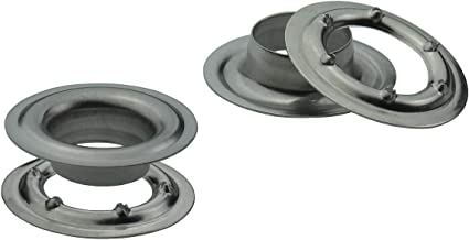 125, 10mm Stahl verzinkt Messing Banner Ista Tools /Ösen Stahl Planen/öse /Öse DIN 7332,/Ø 10mm Edelstahl 16mm