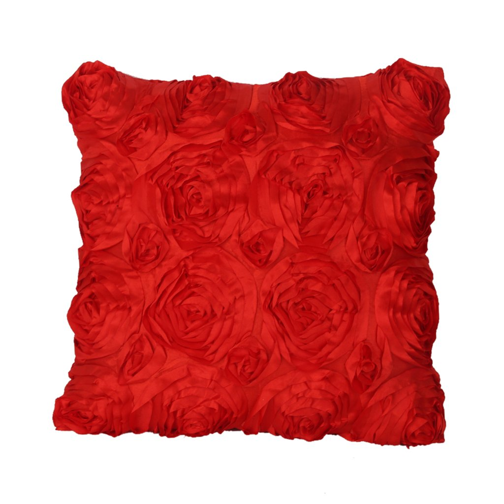 Dovewill Modern Roses Flower Throw Pillow Case Cushion Cover Room Wedding Sofa Bed Decoration - Brown