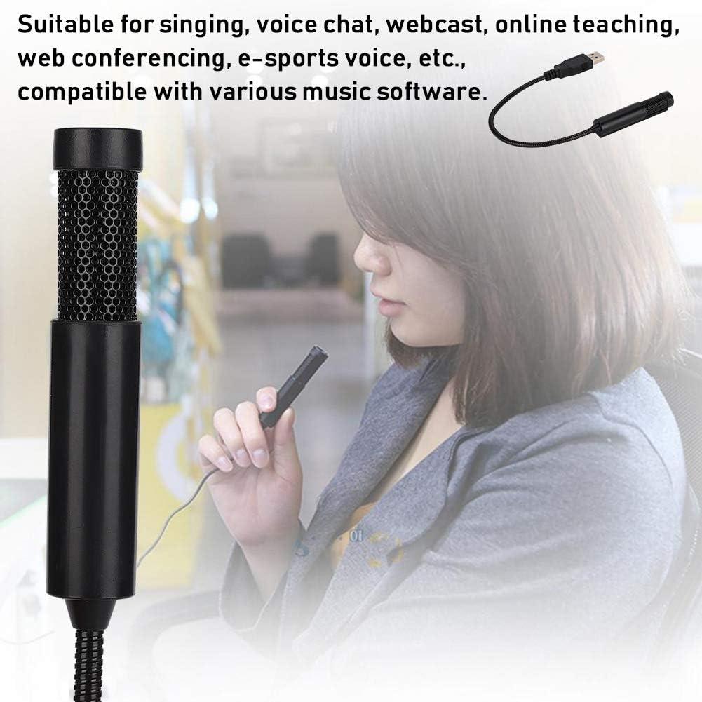 SF-558 Dual Condenser Mini Recording Mikrofon f/ür Gesang//Voice Chat//Webcast//Online-Unterricht//Webkonferenzen Bewinner Kabelgebundenes Mikrofon USB-Schnittstelle f/ür professionelle Mikrofone