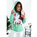 Womens Girls Tops Long Sleeve Floral Print