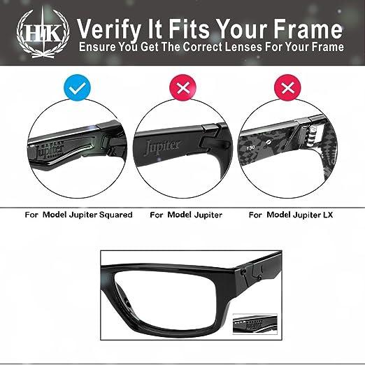 59ca8e60cf Amazon.com  Hkuco Mens Replacement Lenses For Oakley Jupiter Squared  Sunglasses 24K Gold Polarized  Clothing