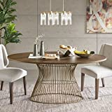 INK+IVY Mercer Oval Dining Table Bronze See below