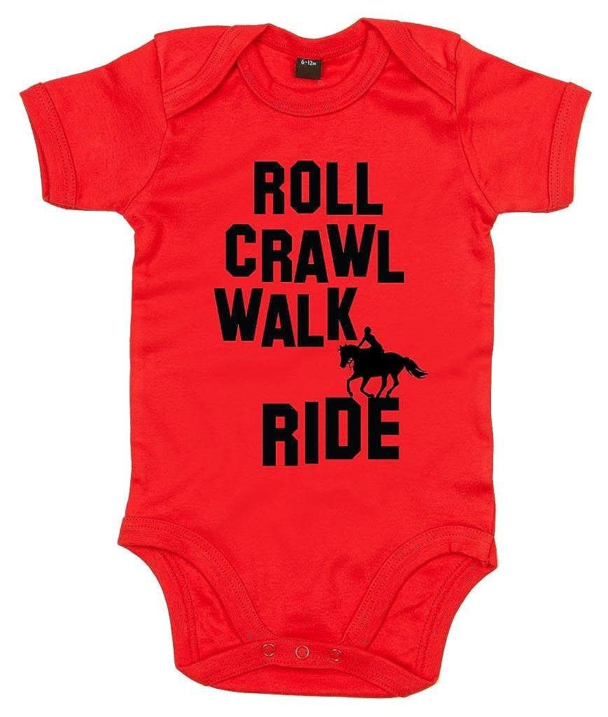 Dirty Fingers, Roll Crawl Walk Ride Horse riding, Baby Unisex Bodysuit