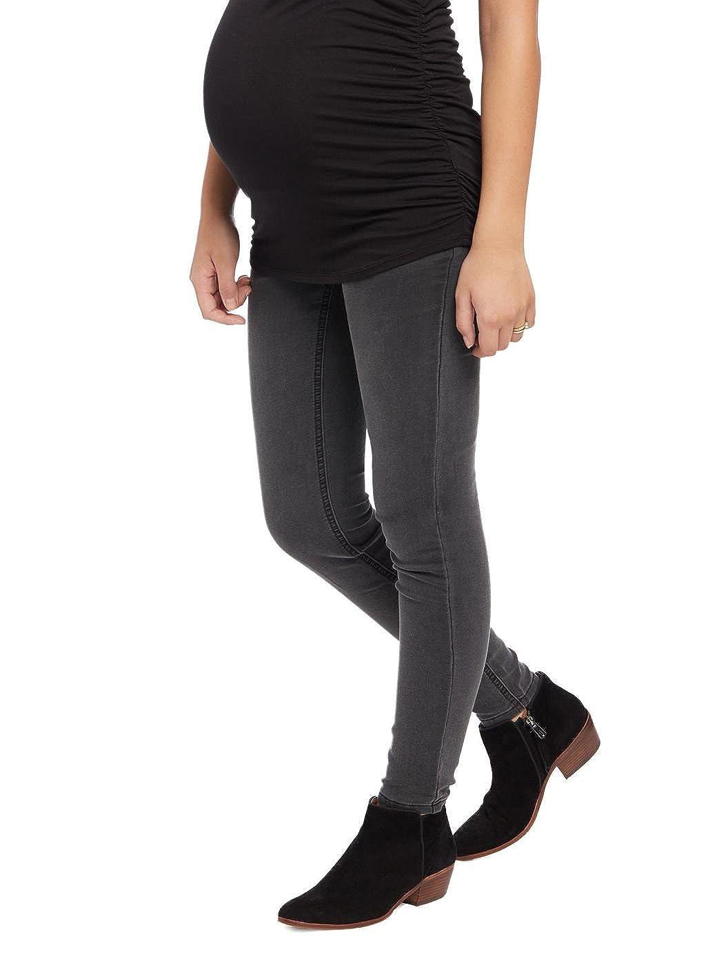 Belly Envy Space Gray Maternity Skinny Jeans Denim Pants