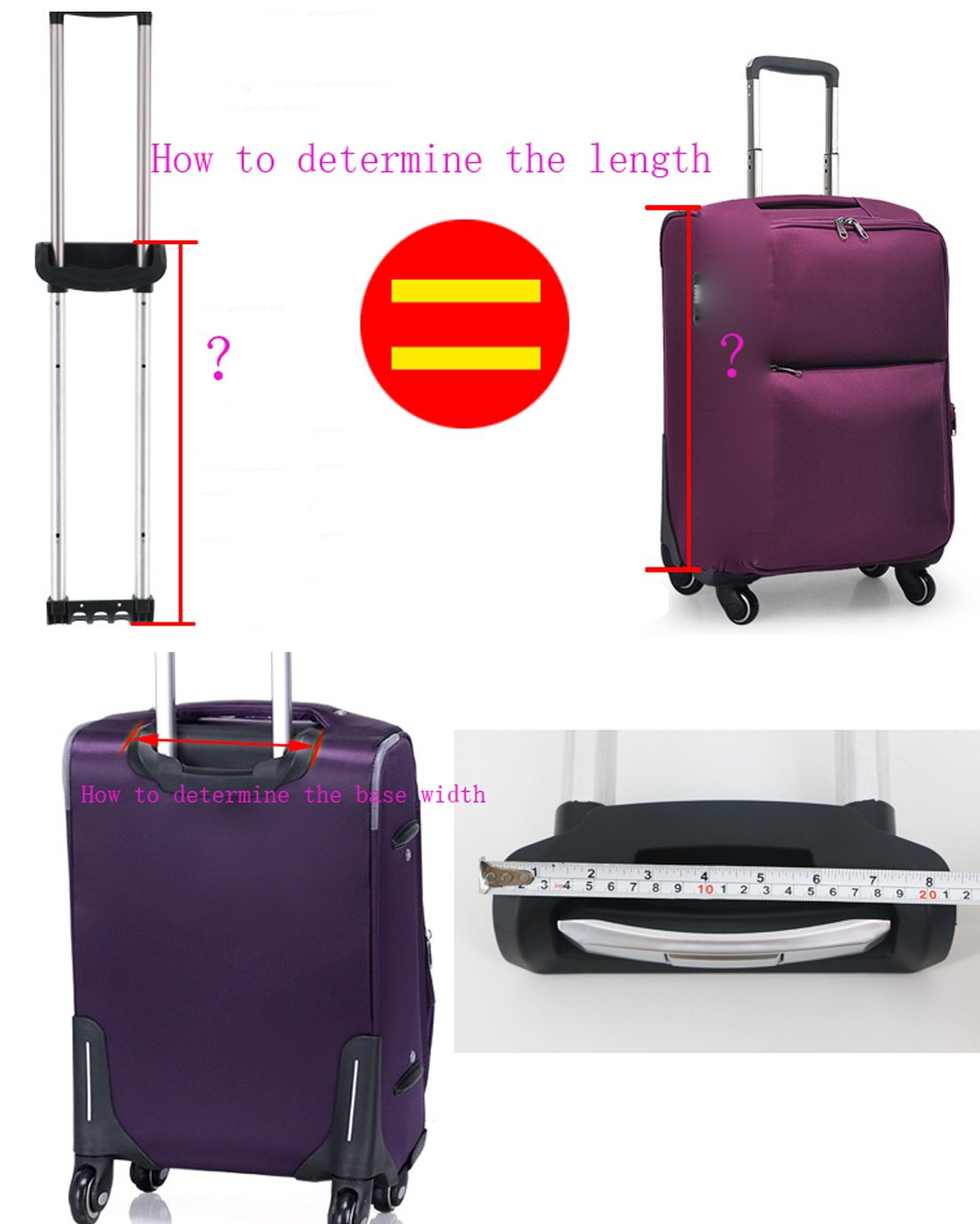 SuperMa Replacement Luggage Telescopic Handle Suitcase Spare Part Pull Out Handle (G002-20 inch) by Super Ma (Image #8)