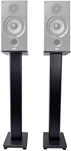 Pair 36 Bookshelf Speaker Stands for ELAC Debut 2.0 B6.2 Bookshelf Speakers