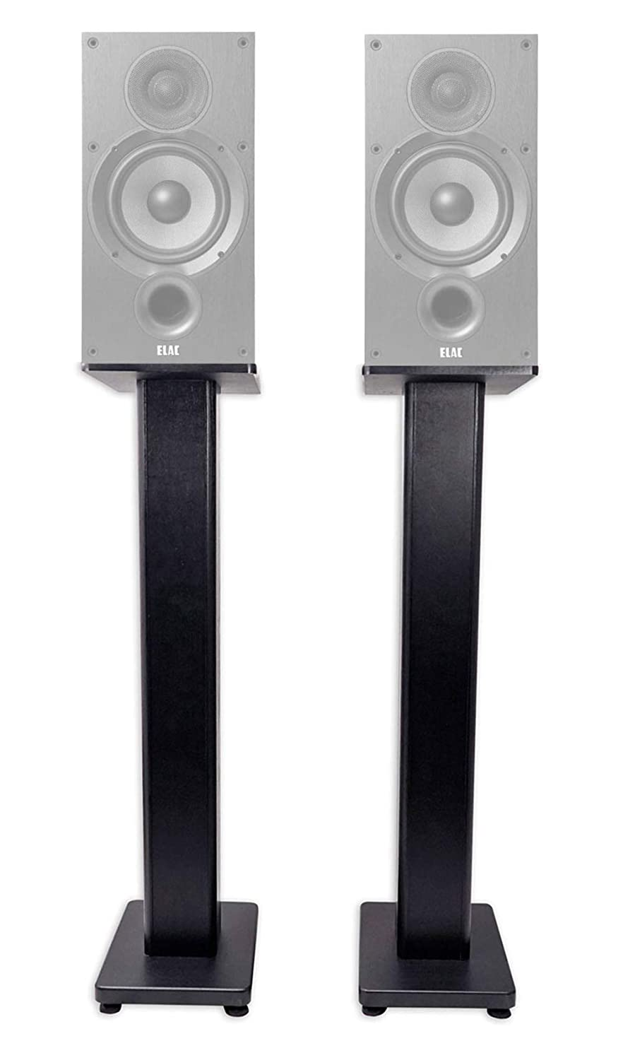 Pair 28 Bookshelf Speaker Stands For ELAC Debut 2.0 B6.2 Bookshelf Speakers