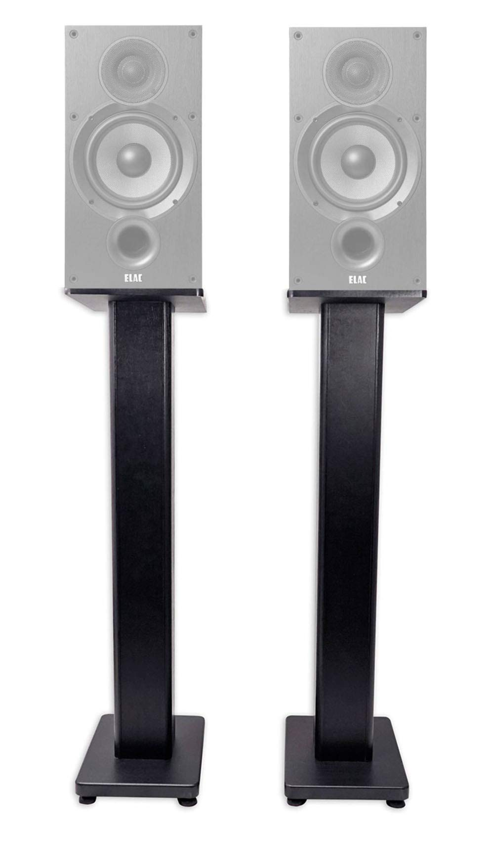 Pair 28'' Bookshelf Speaker Stands For ELAC Debut 2.0 B6.2 Bookshelf Speakers by Rockville