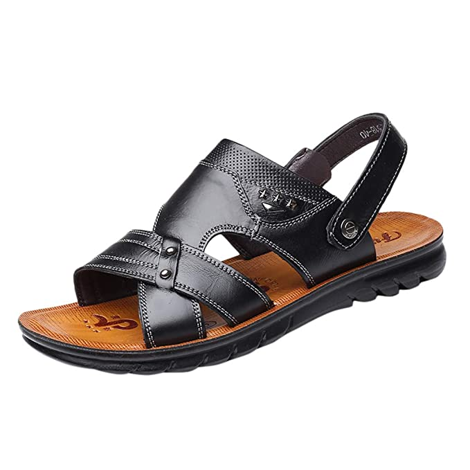 e02bea36cd Corriee 2019 Most Wished Sandals for Men Leather Anti Slip Flats Water Shoe  Mens Summer Shoes