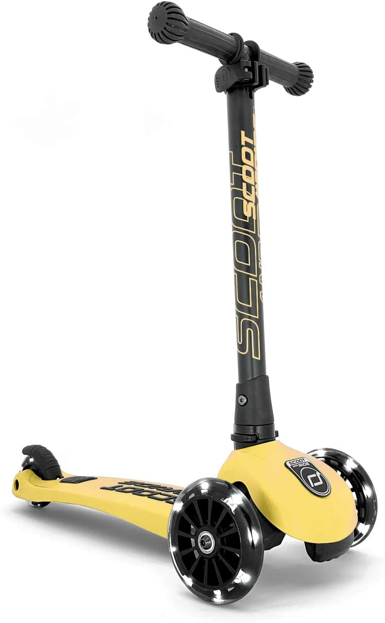 SCOOT N RIDE Trottinette Highwaykick 3 Roues LED Citron