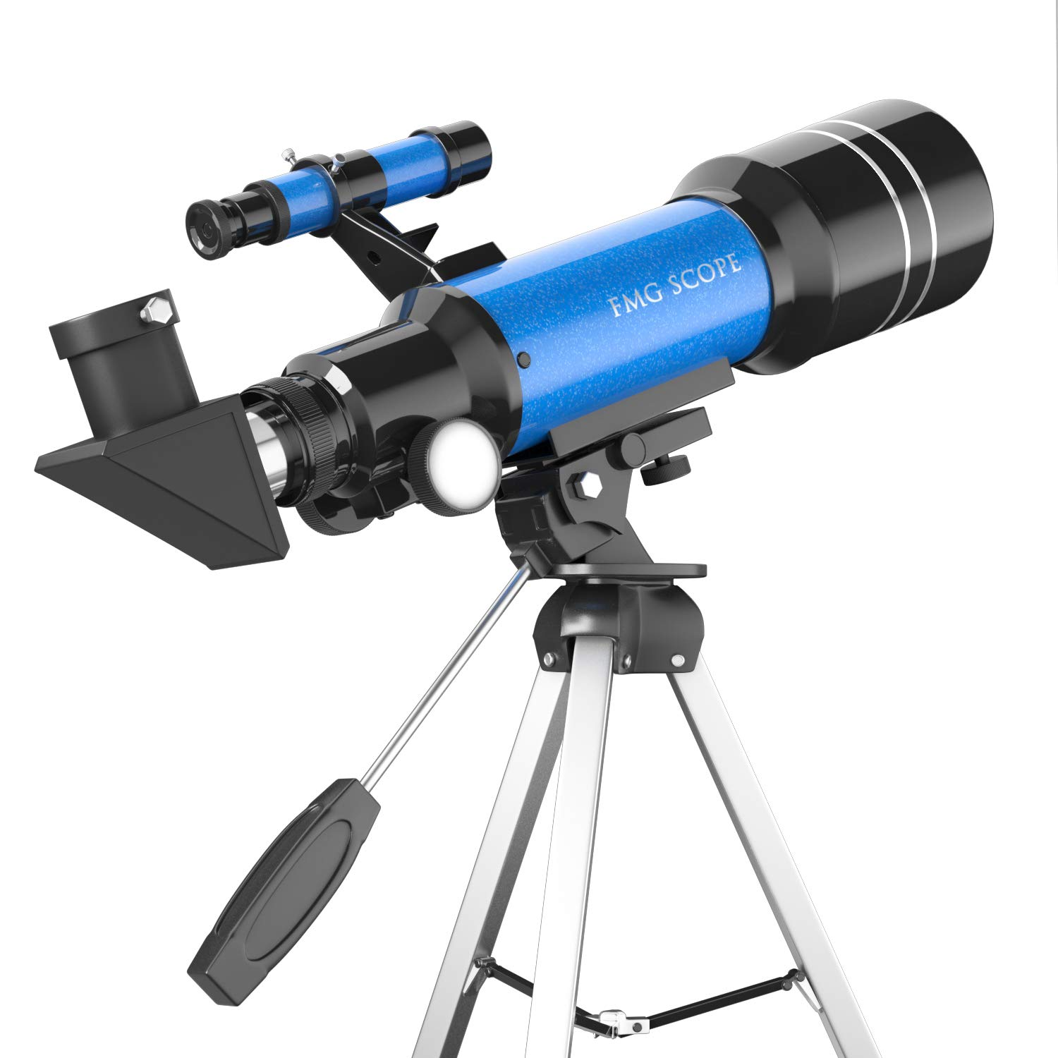 Portable Kids Telescope 400x 70 mm with Tripod , Finder Scope and Moon Mirror , Travel Telescope for Kids & Beginners by FMG Scope