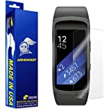 Samsung Gear Fit2 Screen Protector [Full Coverage][2 Pack], ArmorSuit MilitaryShield Lifetime Replacements - Anti-Bubble Ultra HD Screen Protector for gear fit 2 - Clear