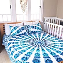 NANDNANDINI- a perfect christmas gift Indian Mandala Duvet Cover, Queen size Blanket, Quilt Cover, Indian Bedspread, Bohemian Bedding, Double Bedspread Comforter Cotton Duvet Cover