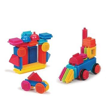 Bristle Blocks - Juego de bloques para bebé (Battat 70.3068) , Modelos/colores Surtidos, 1 Unidad