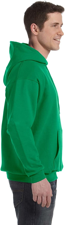 1 Kelly Hanes P170 Mens EcoSmart Hooded Sweatshirt XL 1 Deep Red