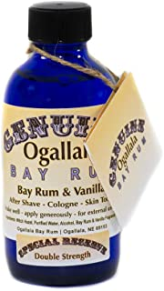 product image for 4 oz Genuine Ogallala Bay Rum – Double Strength Aftershave (Bay Rum and Vanilla)