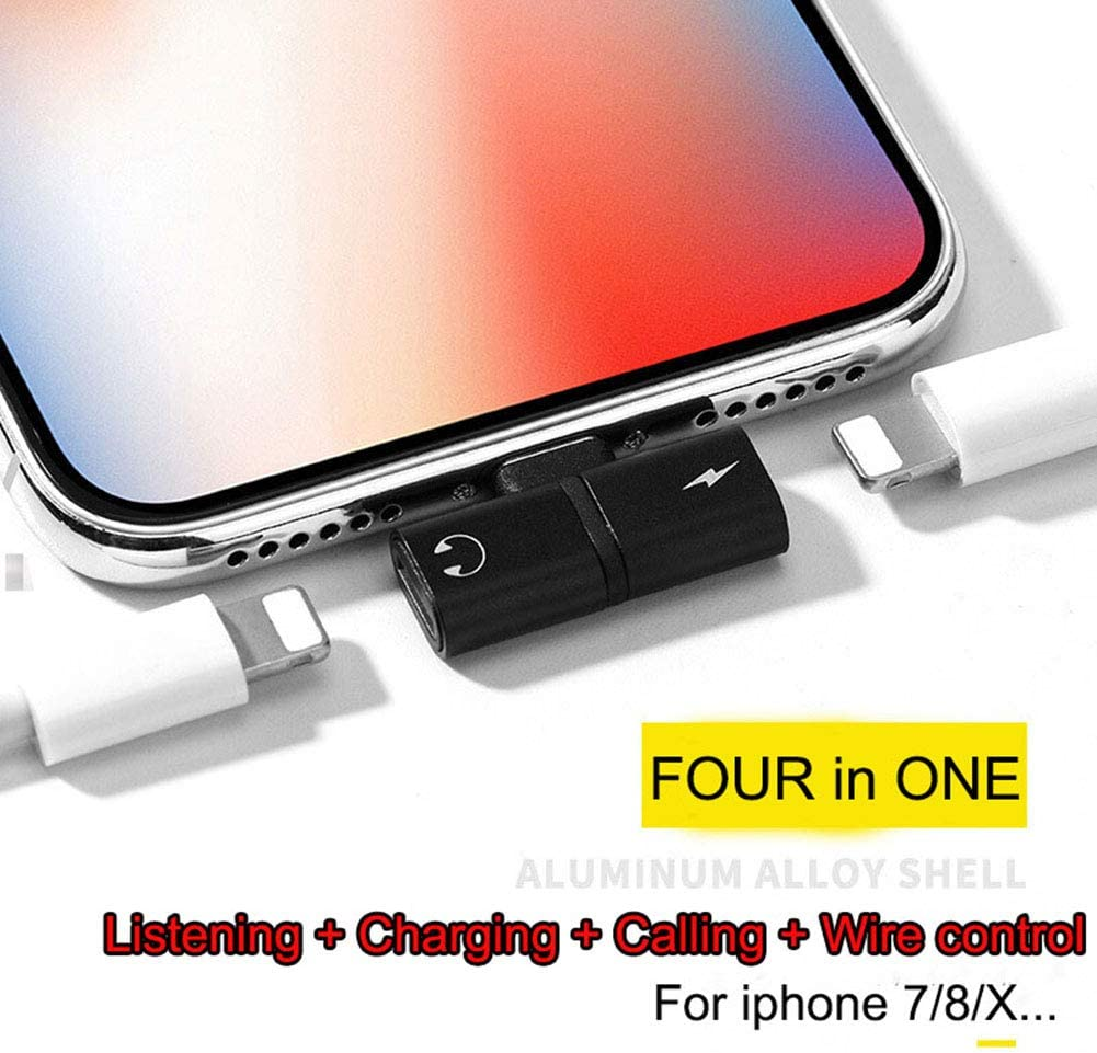Black L30.1W6H19mm Sunnyy XXA s 2 In1 Headphone Adapter and Charger Compatible for iPhone 7//8//x//iPad Music Audio Adapter Converter Splitter Perfectly Compatible for iOS Newest System