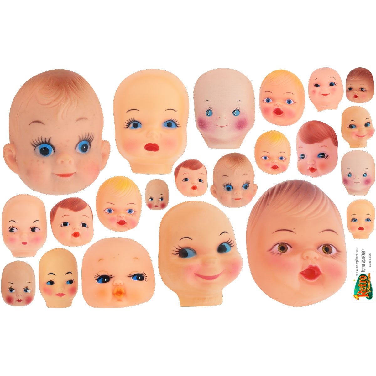 Creepy Doll Heads Vinyl Sticker Sheet Assorted Car and Laptop Decals