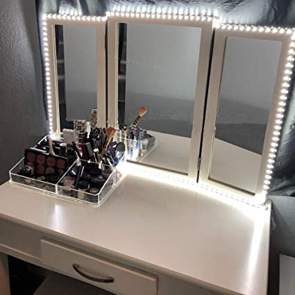 Elisson Led Vanity Mirror Lights Kit 13ft Dimmable Led Strip Lighting For Diy Vanity Mirror With Lights Bright White Makeup Vanity Table Light Set