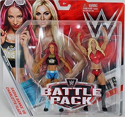Wrestling WWE Pack de Lucha Serie 47 Figura de acción - The Queen Charlotte Flair & The Boss Sasha Banks: Amazon.es: Juguetes y juegos