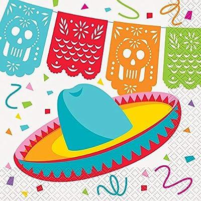 Mexican Fiesta Luncheon Napkins 6.5