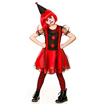 Scary Clown Halloween Costume.Girls Freaky Scary Clown Halloween Fancy Dress Costume 5 7 Years