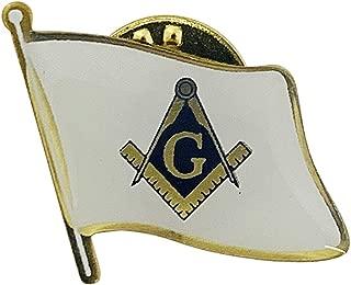 product image for Set of 3 Freemason Masonic Single Waving State Flag Lapel Pin - Made in USA!