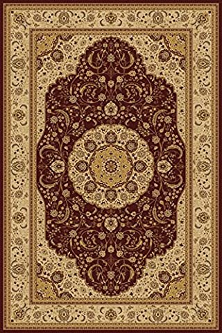 Chocolate 6X8 Traditional Persian Style Area Rug - 594 Mint