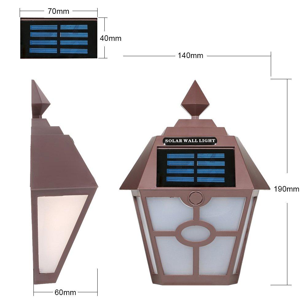 Lixada Solar Lamp Outdoor Ip65 Induction Sensor Night Light Led Wall Birdhouse Circuit Diagram For Garden Fence Corridor Caff Bianco Lighting