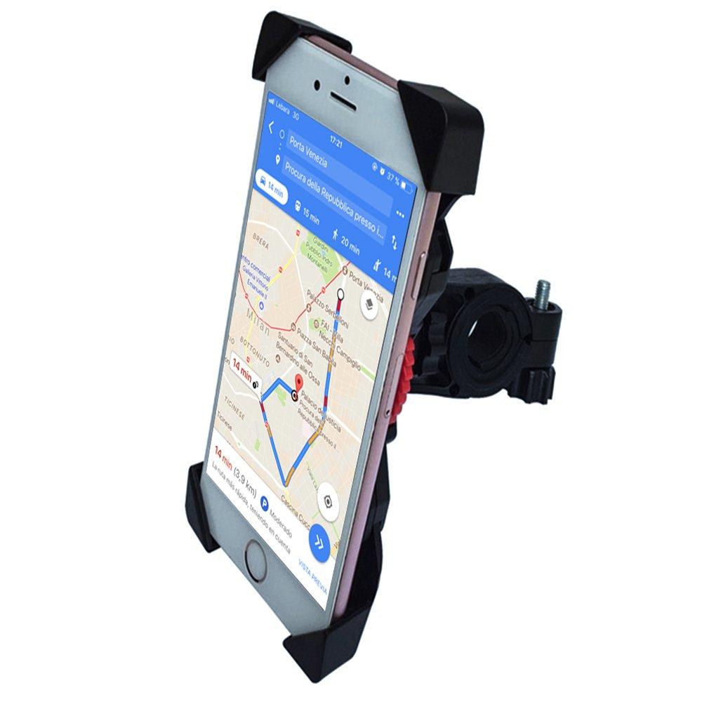 AWNIC Soporte de Móvil para Bicicleta Bloqueo de Engranaje Seguro Universal para 3,5 a 6,5 de iPhone Android Smartphone, etc