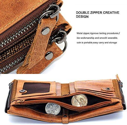 9d5f697b Hibate Men Leather Wallet RFID Blocking Men's Wallets Credit Card ...