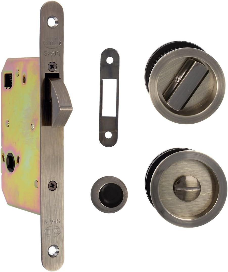 Amig 18761 Kit cerradura puerta corredera, Cuero, 0: Amazon.es ...