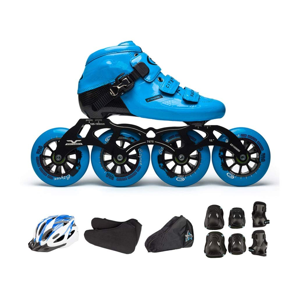 Ailj インラインスケート カーボンファイバースケート 4X110MMホイール 子供用大人用単列スケート靴 フルセット 3色 通販 激安◆ 色 今だけスーパーセール限定 : B サイズ さいず EU B07QFP2C7B 12.5 45 US 20cm JP 27.5cm 12 11 A UK 30 11.5