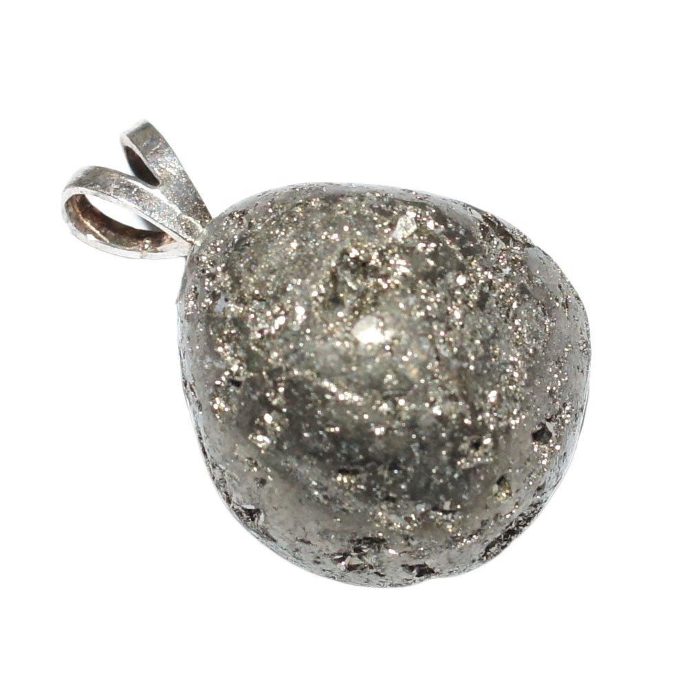 Pendentif Pyrite naturelle Extra B/éli/ère argent