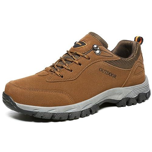 NEOKER Scarpe da Trekking Uomo Donna Arrampicata Sportive All aperto  Escursionismo Sneakers Marrone 39 b288d837af8