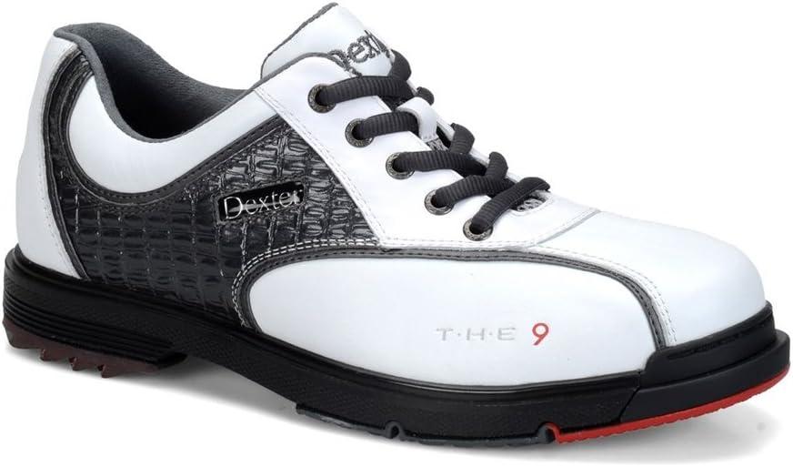 Dexterメンズt.h.e 9ボーリング靴 白い/グレー Croc Size 11.5