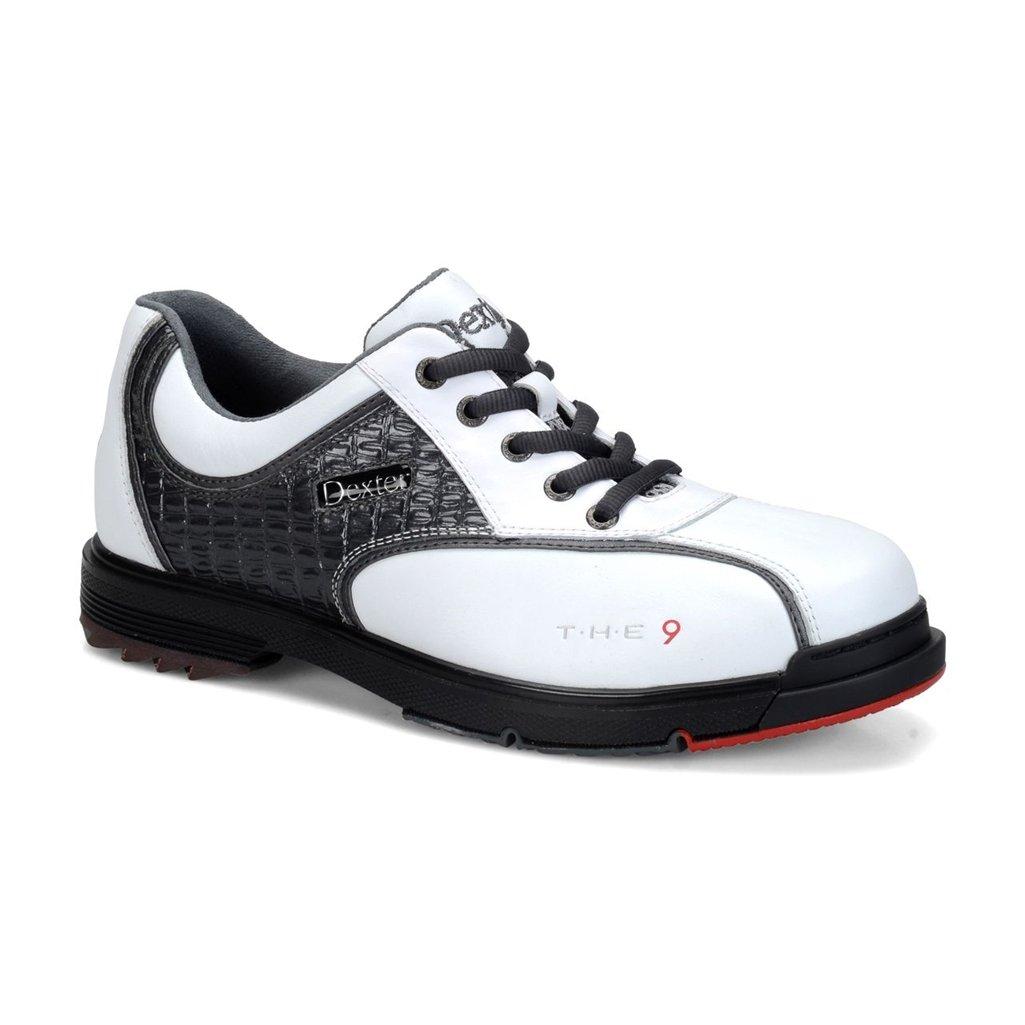 Dexterメンズt.h.e 9ボーリング靴 B01GW77PA2 White/Grey Croc Size 14
