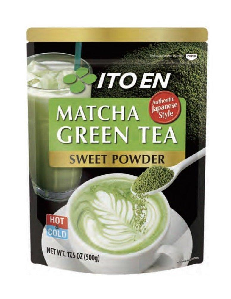 Ito En Matcha Green Tea, Sweet Powder, 17.5 Ounce (Pack of 1), Sweetened Green Tea Powder, Antioxidant Rich, Good Source of Vitamin C, Japanese Matcha Powder Mix by Ito En
