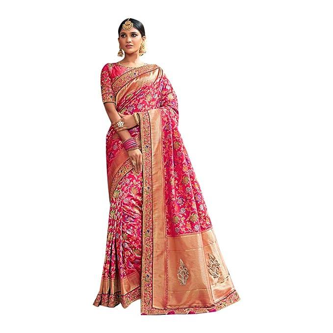 5f7ea11a539e ETHNIC EMPORIUM Abiti da Festa Designer Indiani Abiti da Sposa Sari  Bollywood Heavy Work Abiti da Sposa jari Work 791 Amazon.it Abbigliamento  ...