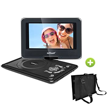 iegeek portable dvd player kit for kids 95 led eye protection swivel screen portable