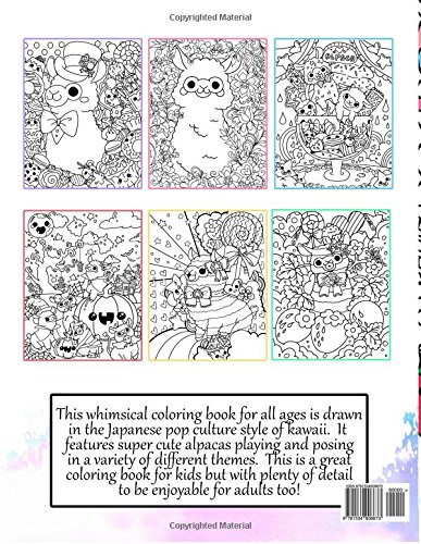 Amazon Kawaii Alpacas A Super Cute Coloring Book Manga And Anime Books For Adults Teens Tweens Volume 4 9781534908673